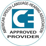 American Speech-Language-Hearing Association Approved Provider